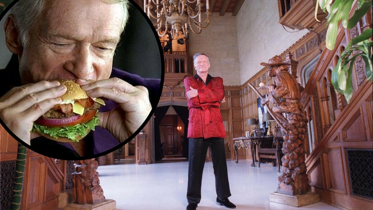 Estas eran las comidas favoritas del creador de Playboy, Hugh Hefner