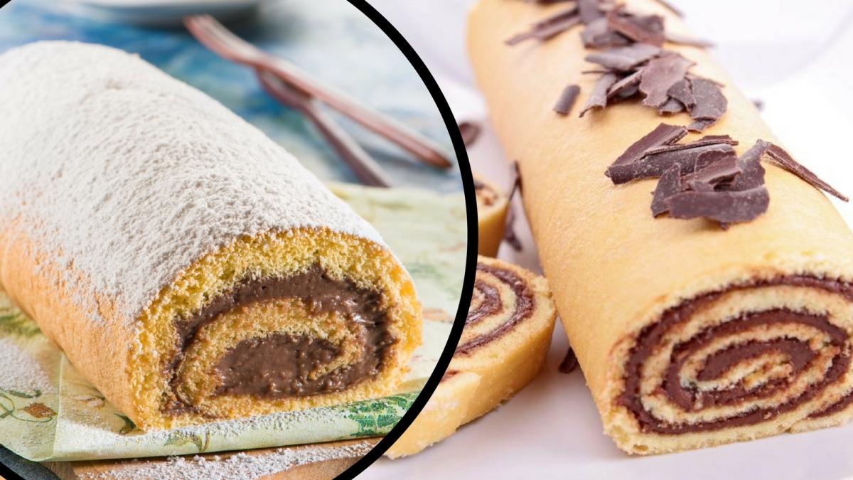 Receta de Brazo gitano relleno de chocolate y canela