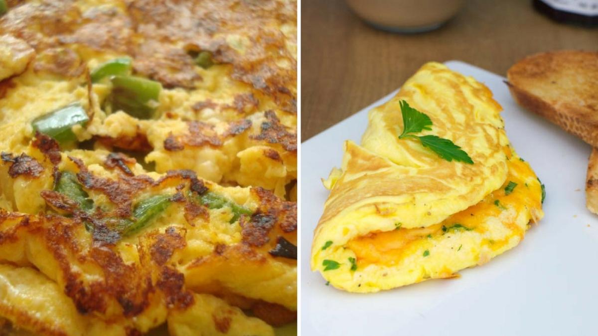 Receta de Omelette de queso para el desayuno