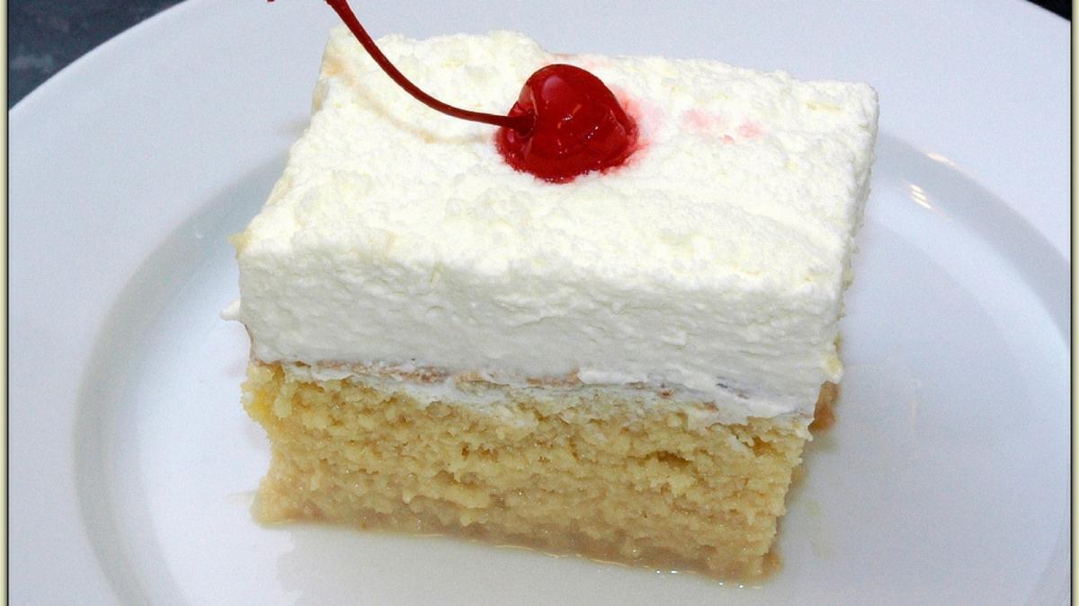 Receta de Torta tres leches ¡Súper esponjosa!