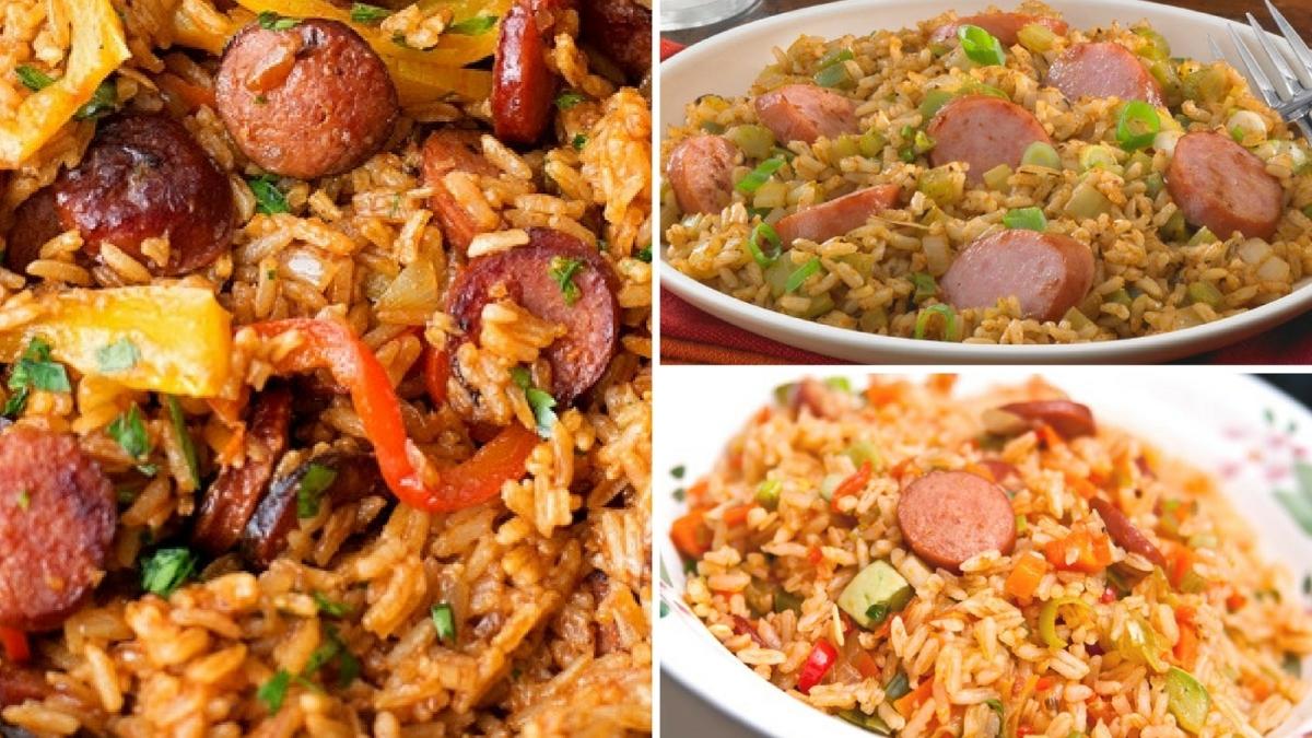 Receta de arroz con tomate y salchichas