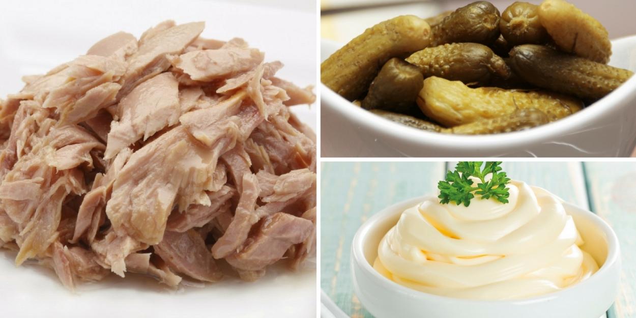 Ingredientes sándwich de atún