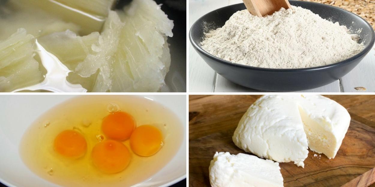 Ingredientes deditos de yuca o mandioca